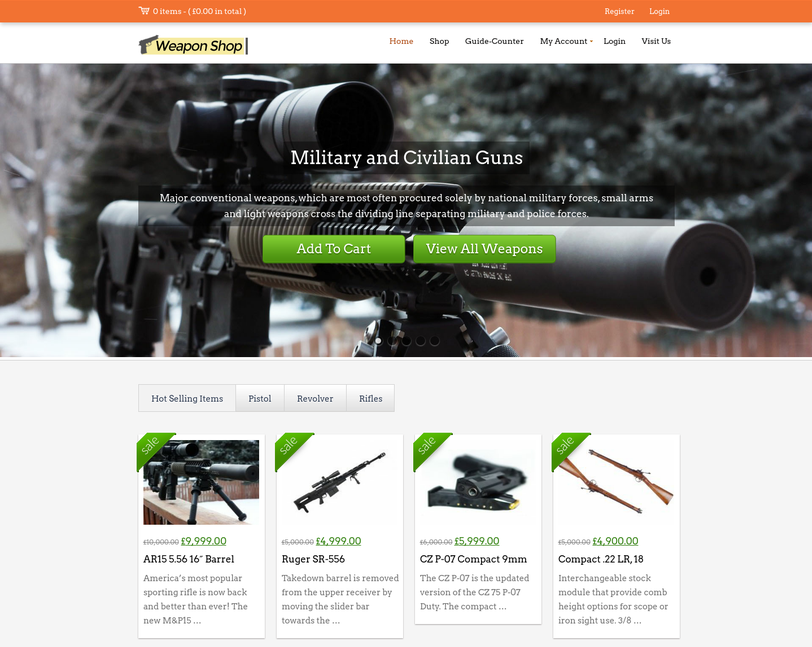 weaponshop wp theme