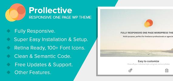 Prollective – Multipurpose One Page WordPress Theme