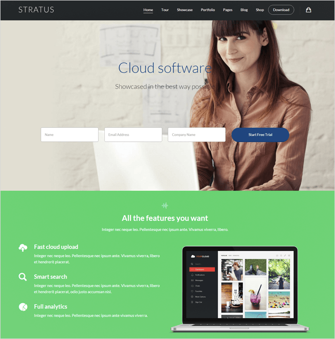 Stratus WordPress Landing Pages