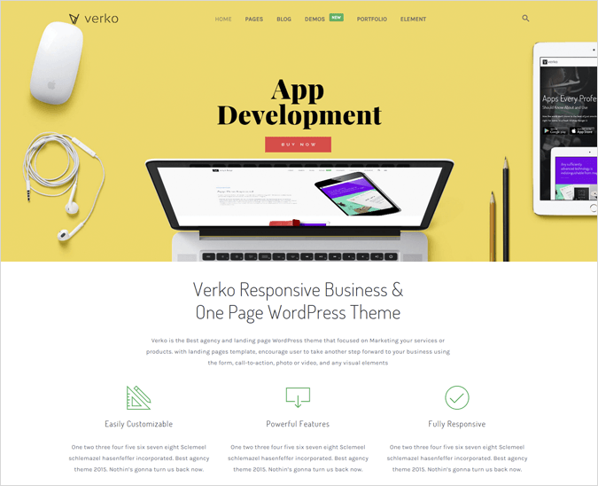 Verko WordPress Landing Pages