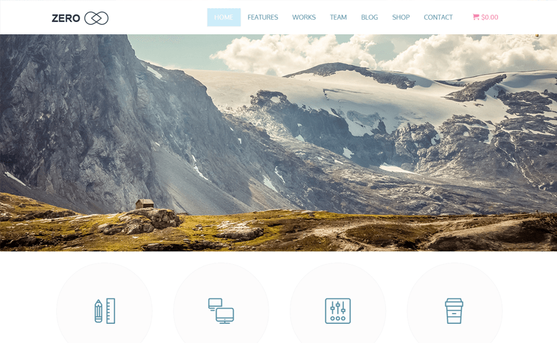 Zero landing page wordpress theme