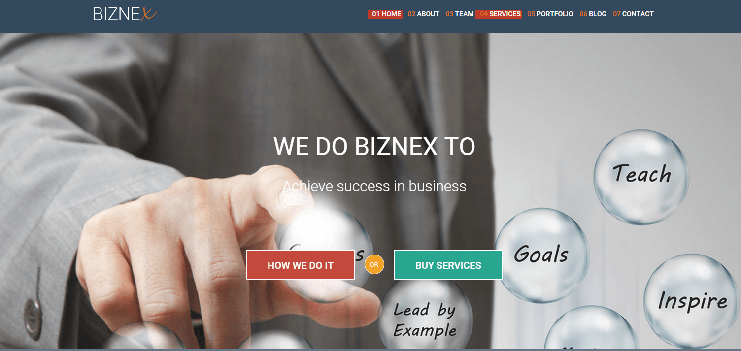biznex-one-page-product-landing-page-wp-theme