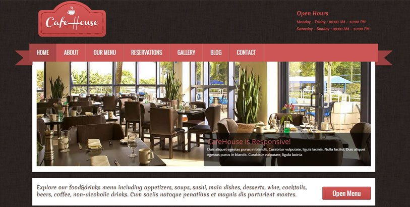 cafe house for restaurants