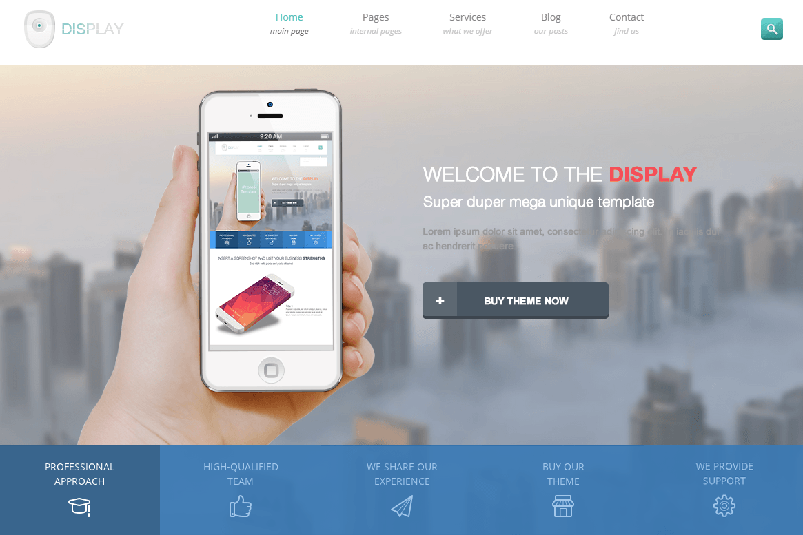 display-wp-landing-page
