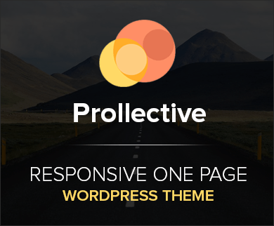 Prollective - Multipurpose One Page WordPress Business Theme