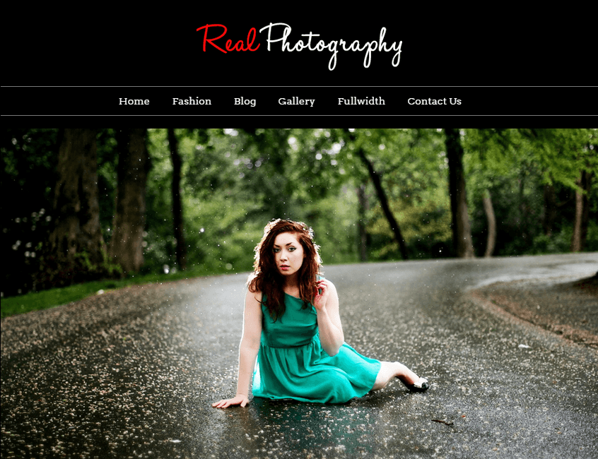 real photography - with wordpress