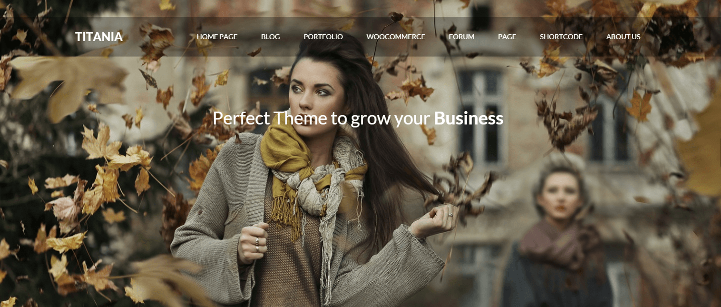 titania - photography wordpress theme