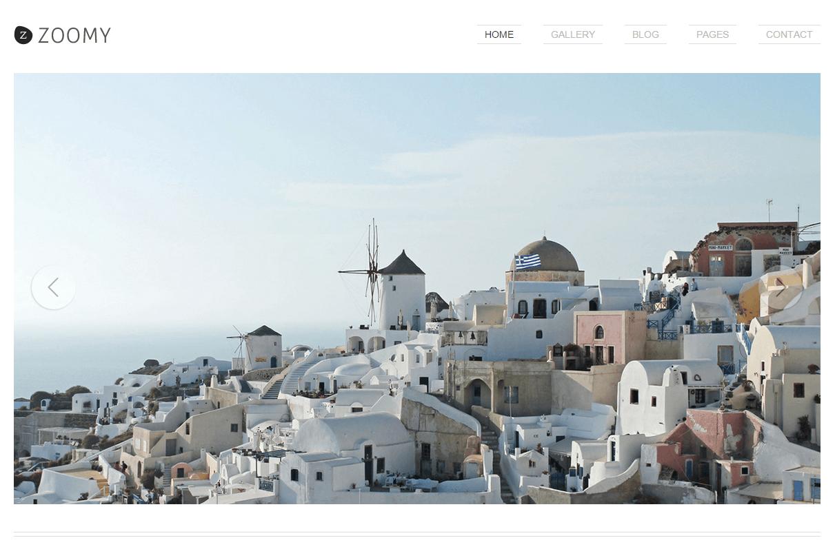 zoomy - wordpress theme for photographers