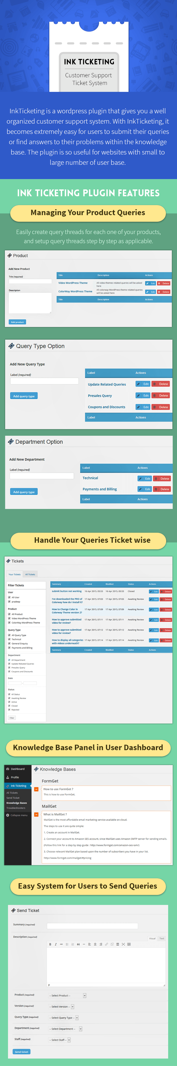 wordpress ticket support system