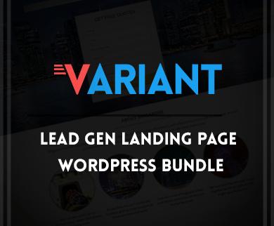 Variant - Landing Page WordPress Theme