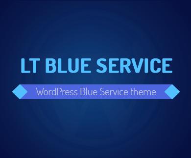 Blue Service - Technology Business WordPress Theme