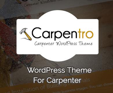 Carpentro - Carpenter WordPress Theme