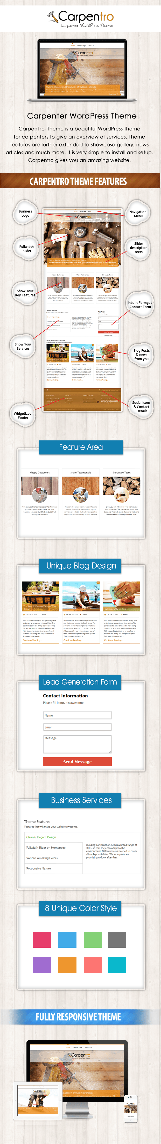 wordpress theme for carpenters