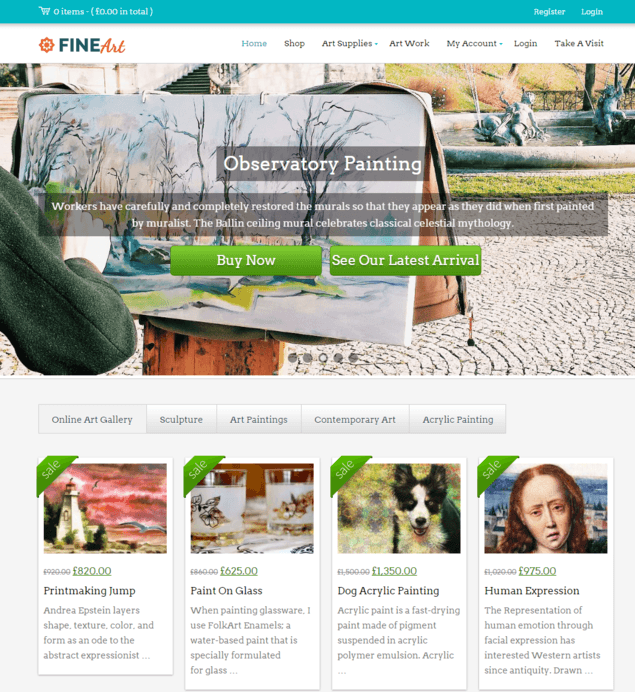 fineart wp theme