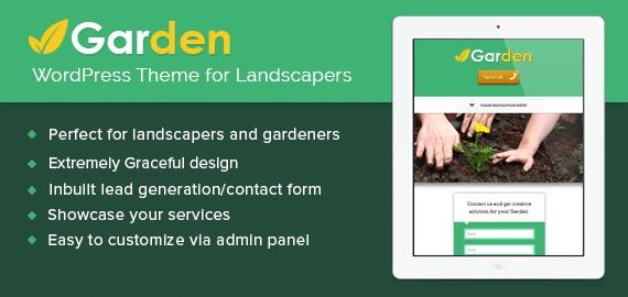 WordPress Theme for Landscapers & Gardeners