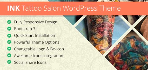 INK Tattoo WordPress Theme