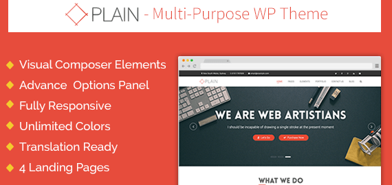 PLAIN - MULTIPURPOSE WORDPRESS BUSINESS THEME