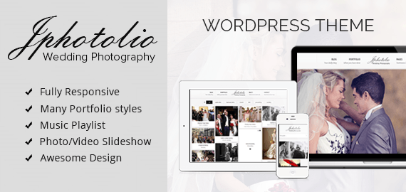 JPhotolio: Wedding Photography Business WordPress Theme