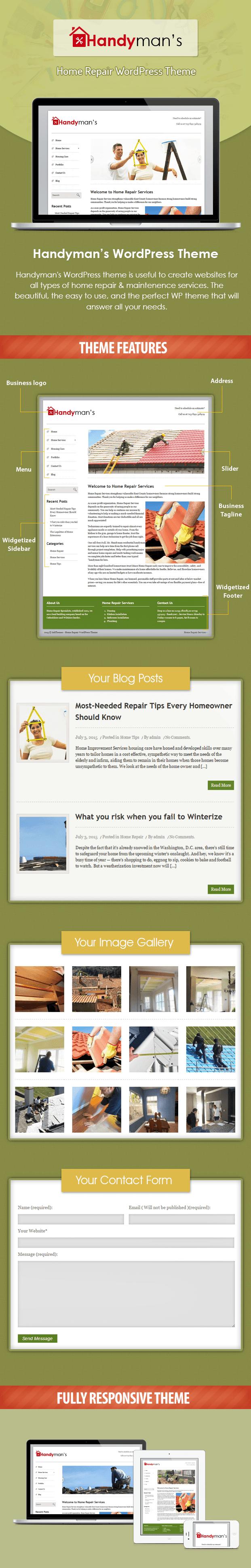 handyman - home repair and maintenence business wordpress theme