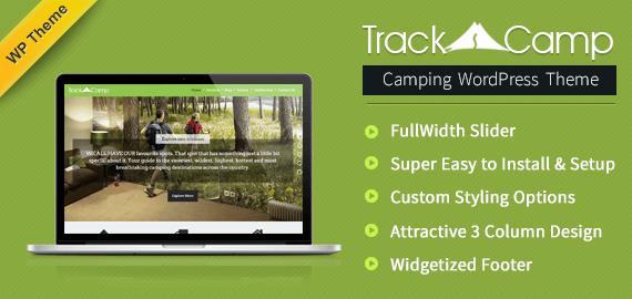 TrackCamp – Camping, Hiking WordPress Theme [Free Install]