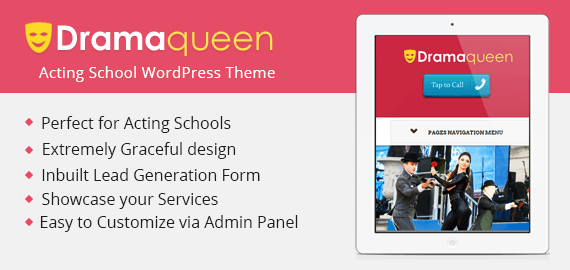 DRAMAQUEEN - ACTING SCHOOL WORDPRESS THEME