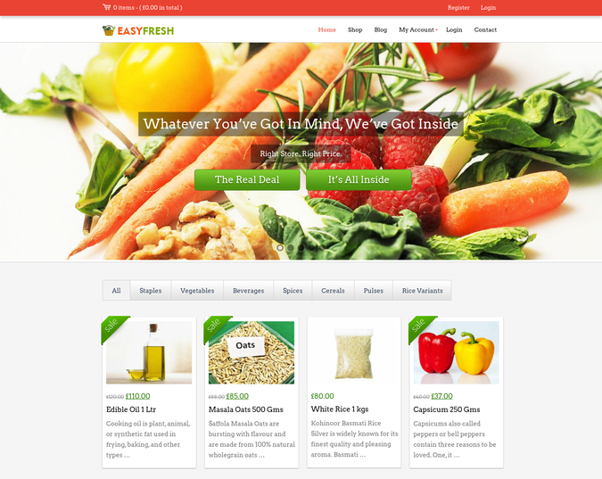 easy fresh wp theme