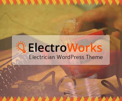 ElectroWork - Electrician WordPress Theme