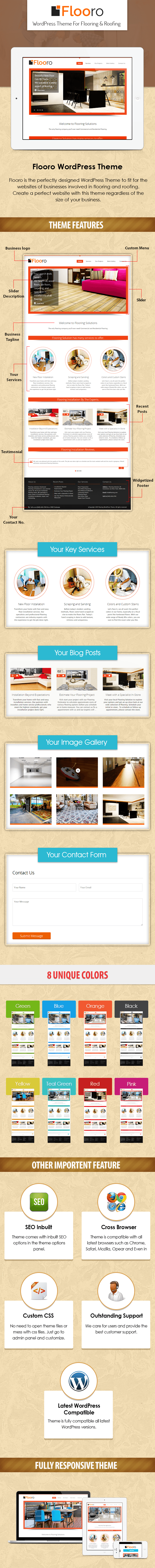 flooro - the flooring and roofing wordpress theme from inkthemes