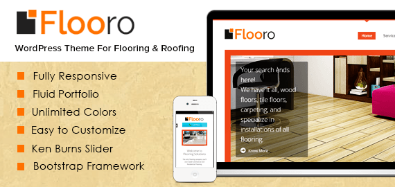 Flooro – Flooring and Roofing WordPress Theme