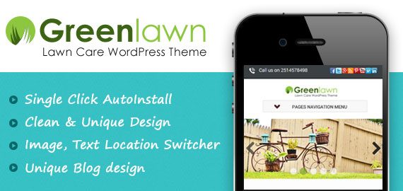 Lawn Care Company WordPress Theme