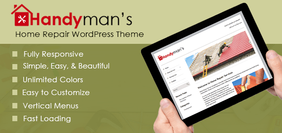 Handyman's – Home Repair & Maintenance WordPress Theme