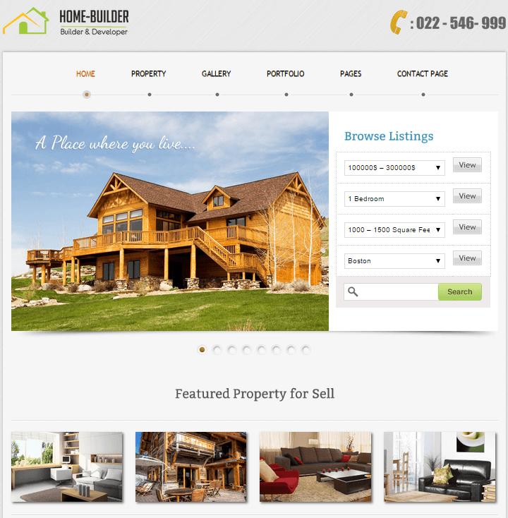 Rental Property Website: Home Builder