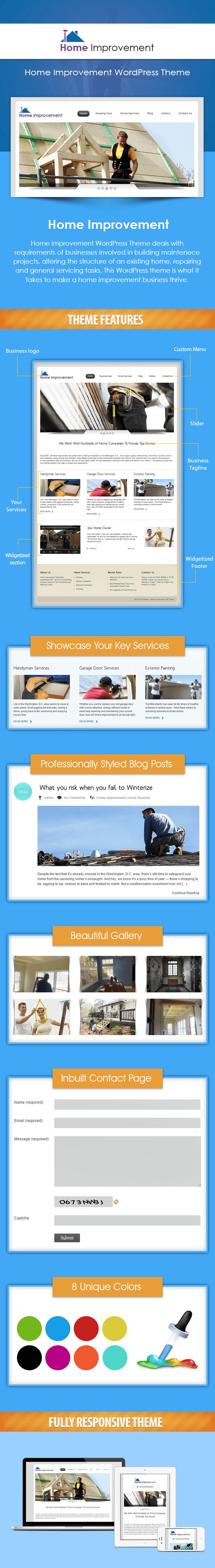 wordpress theme - home improvement, repair and renovation