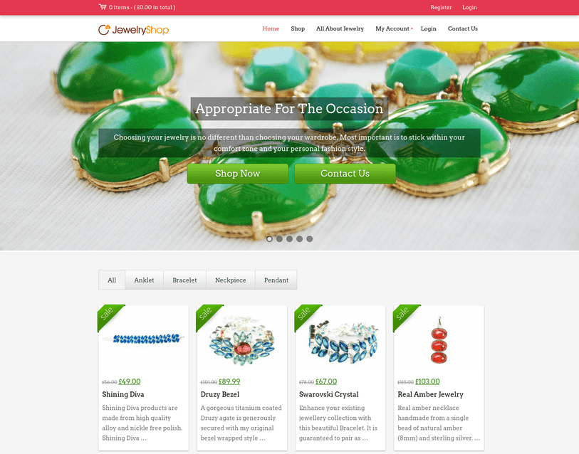 jewelry shop wp theme