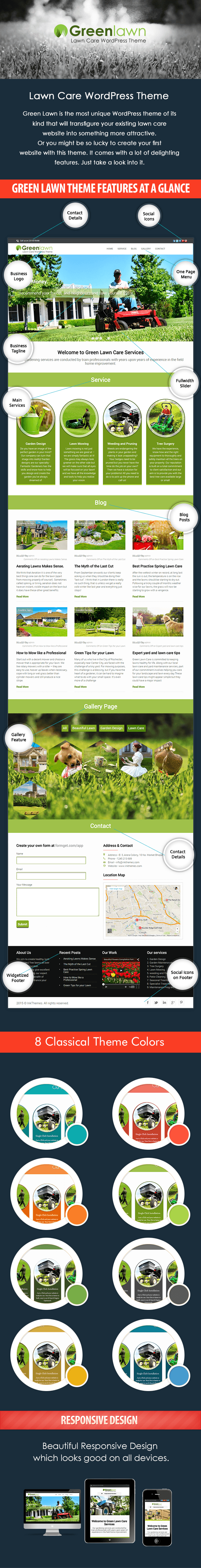 lawn and garden maintenece wordpress theme - all features