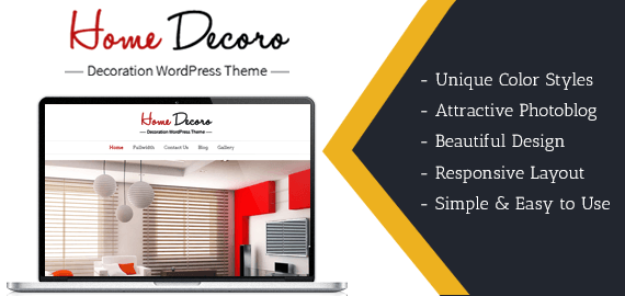 HOME DECORO - DECORATION WORDPRESS THEME