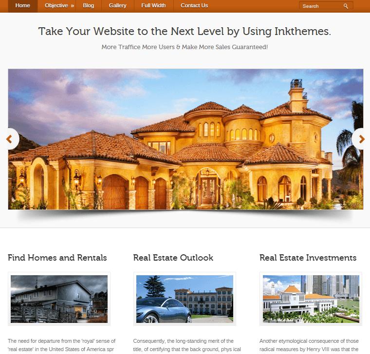 Property Rental Sites: Single Property Selling Wordpress Theme