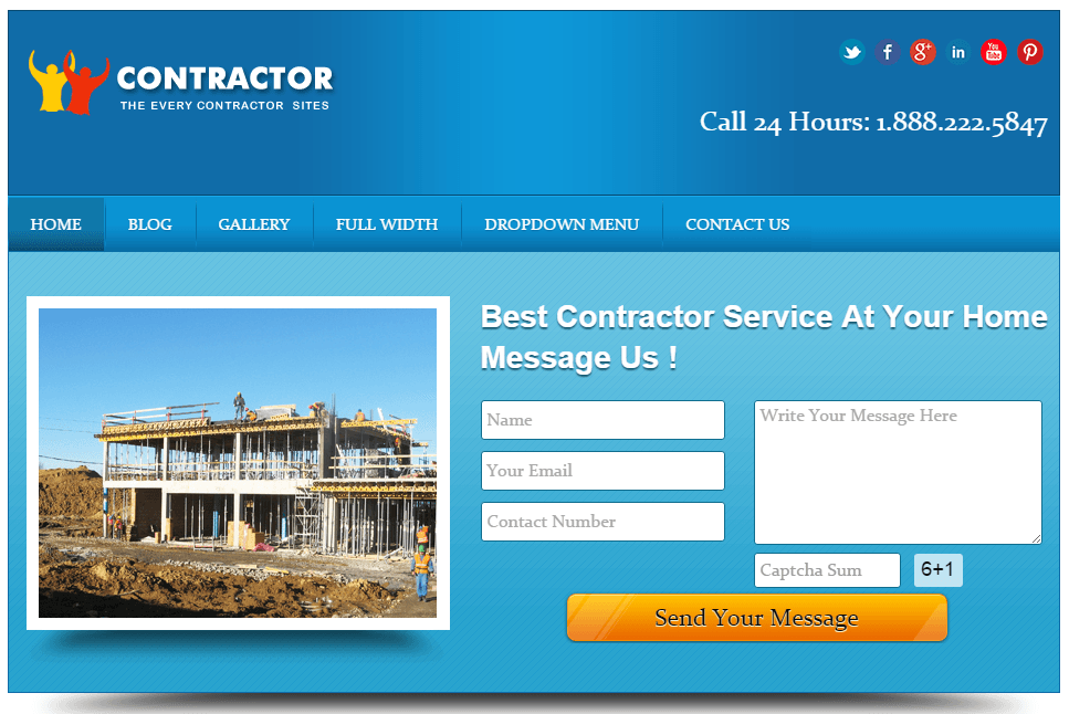 real estate contractor wordpress theme