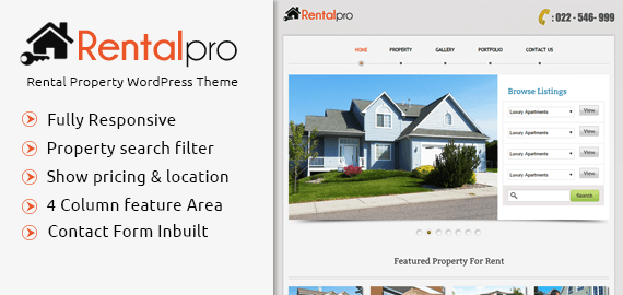 Rental Property Listing WordPress Theme | InkThemes
