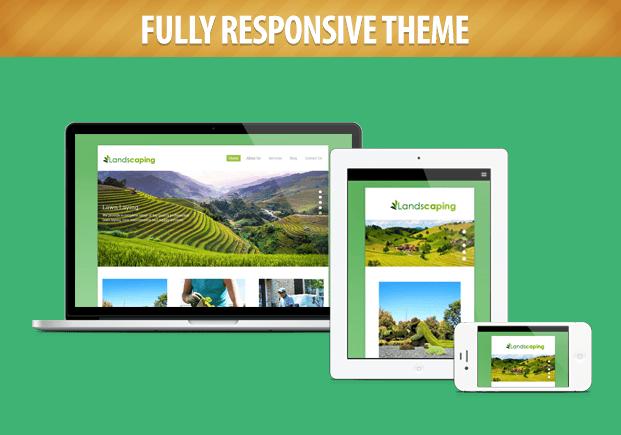 responsive landscaping and gardening wordpress theme