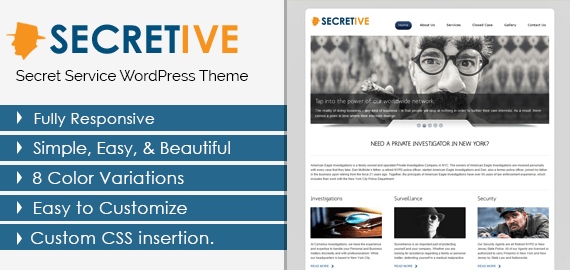 SECRETIVE - SECRET SERVICES WORDPRESS THEME
