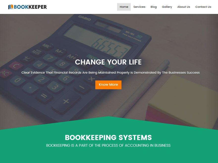 Bookkeeper - The Bookkeeping WordPress Theme