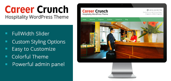 CAREER CRUNCH - HOSPITALITY WORDPRESS THEME