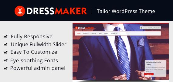 DRESSMAKER - TAILOR WORDPRESS THEME