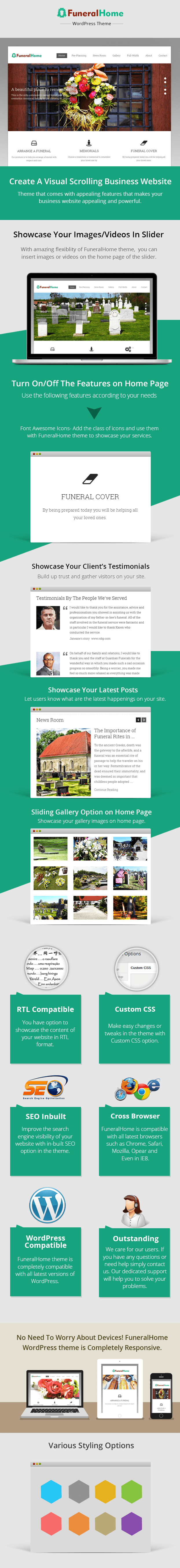 WordPress theme for funeral service providers