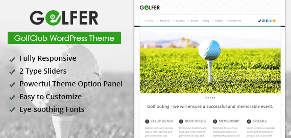GOLFER - GOLF CLUB WORDPRESS THEME