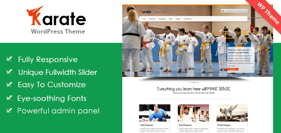 KARATE - KICKBOXING & KARATE WORDPRESS THEME