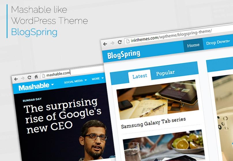 Mashable Like WordPress Theme