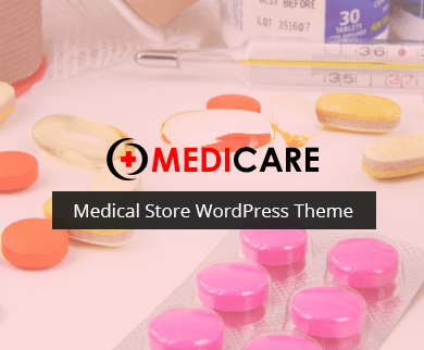Medicare - Medical Store WordPress Theme
