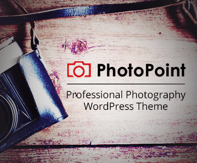 PhotoPoint - Professional Photography WordPress Theme
